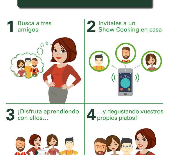 Aprende y disfrutad con tus amigos Show Cooking