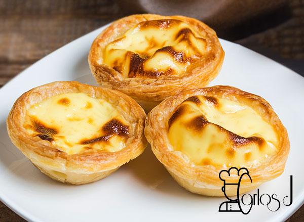 Tartaletas de crema portuguesas