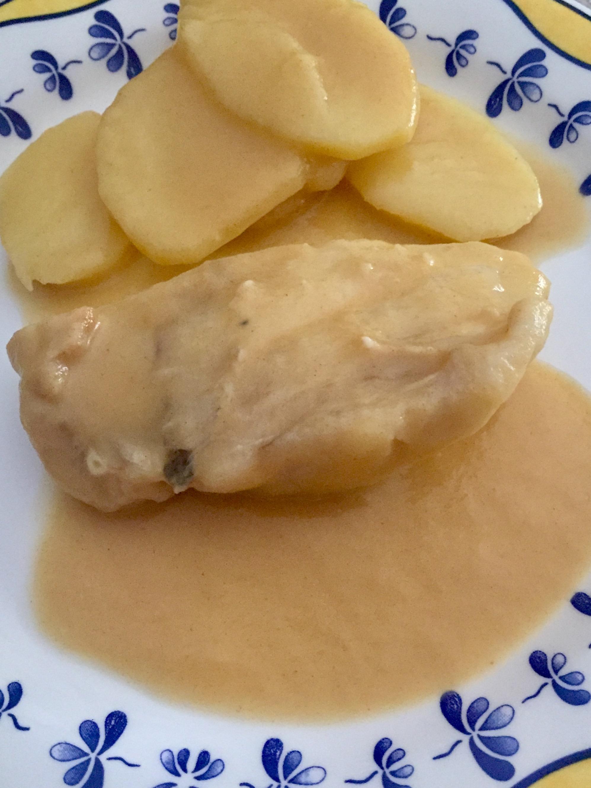 Bacalao al vapor con salsa al pimentón con Thermomix® Badajoz