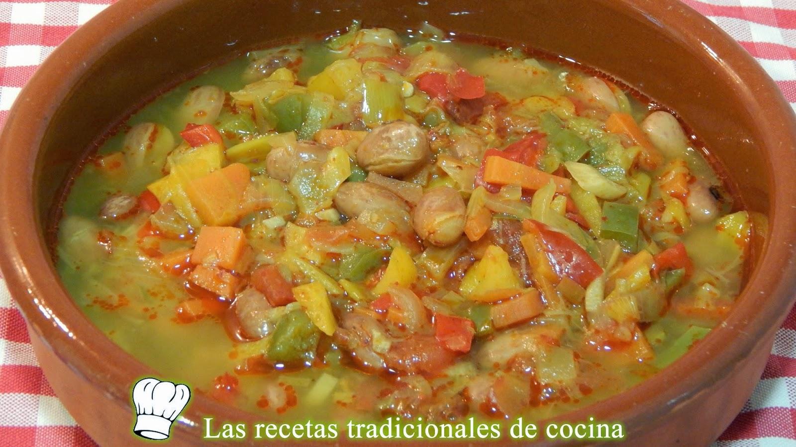Guiso de Alubias (Judías) Pintas con verduras con Thermomix®