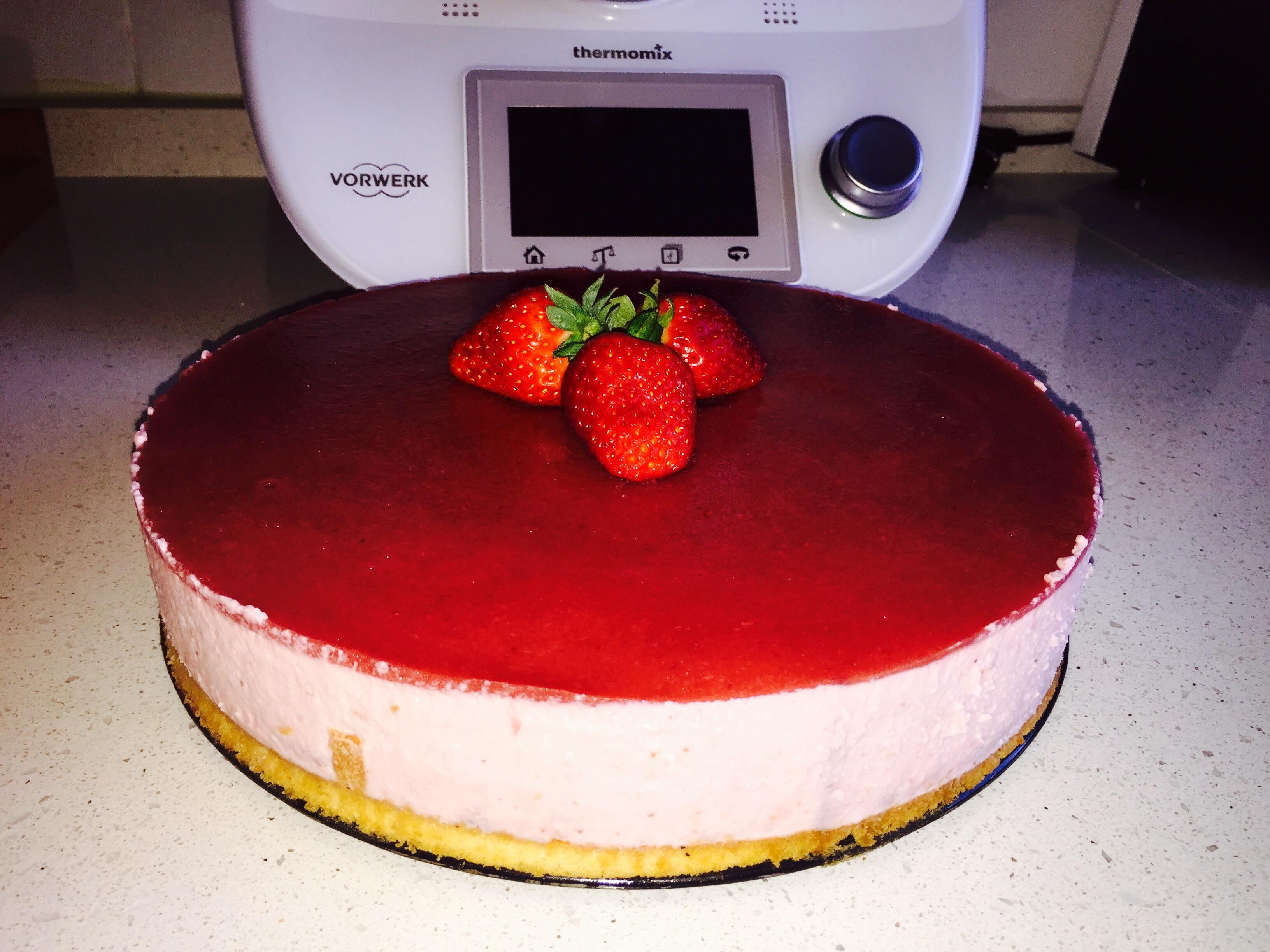 Tarta de fresas y mascarpone Thermomix® Badajoz