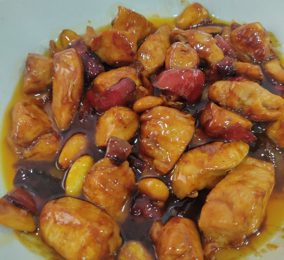 Pollo con verduras y almendras en salsa teriyaki - Don Benito - Badajoz