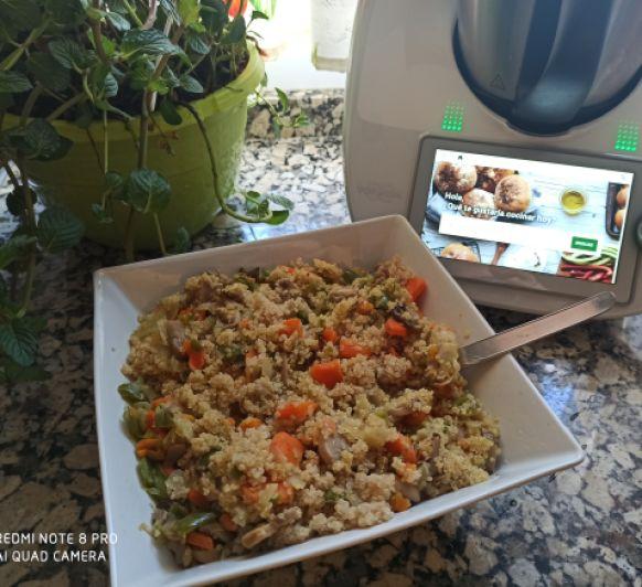 VEGANO Quinoa con salteado de verduras Thermomix® Badajoz