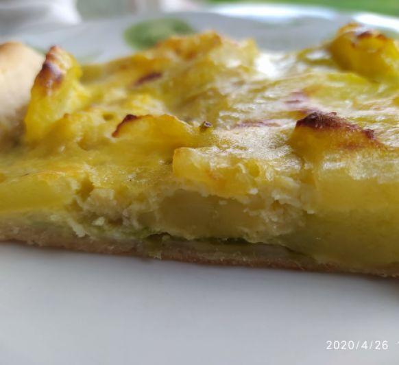 Coca de pimientos verdes y patatas- Thermomix® Badajoz