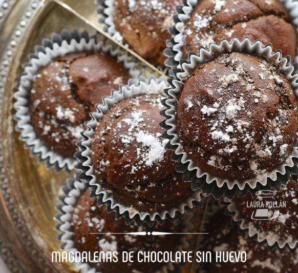 MAGDALENAS DE CHOCOLATE SIN HUEVO CON Thermomix®