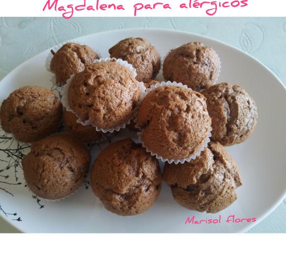 Magdalena para alérgicos a la proteina de la vaca