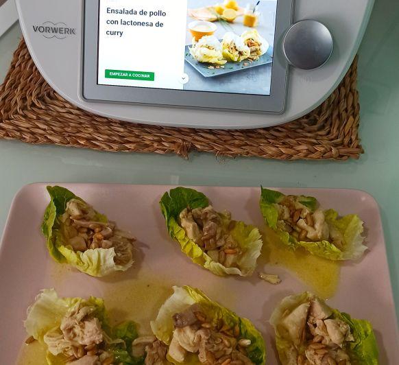 Ensalada de pollo con lactonesa de curry Thermomix® Zafra