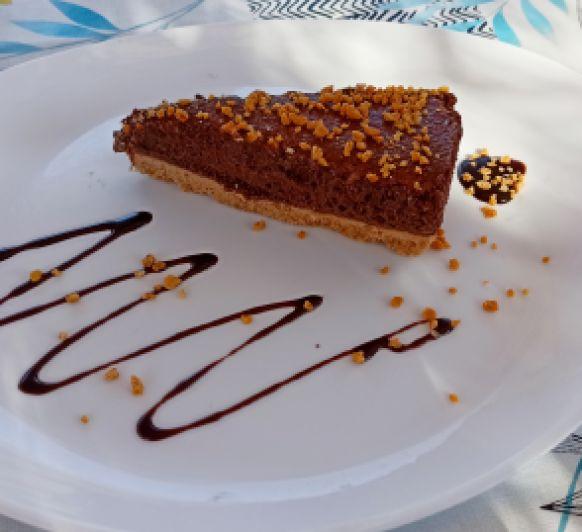 Tarta mouse chocolate con crocanti Thermomix® Zafra