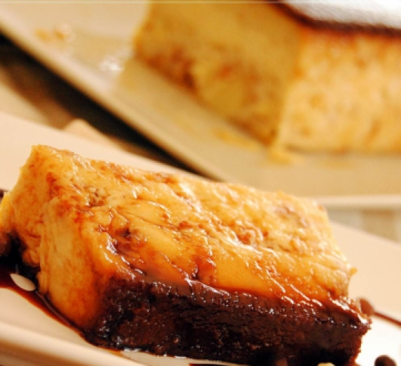 Receta de Pudin de Manzana sobre Natillas con Thermomix® ©
