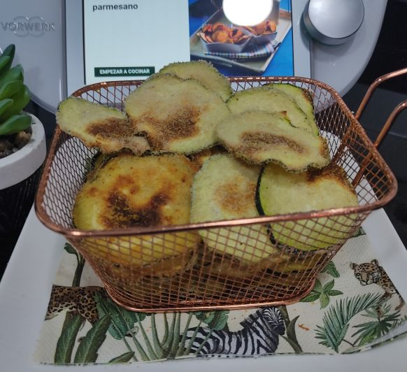 Chips de calabacín al parmesano - Thermomix® - Don Benito - Badajoz