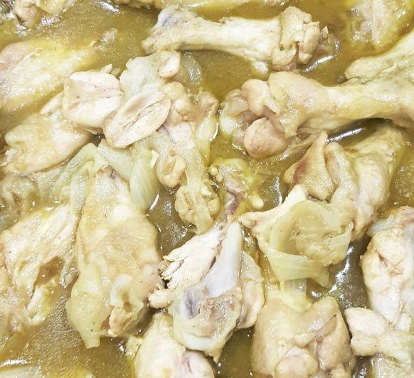 Alitas de pollo con cebolleta al curry Thermomix® Badajoz Mérida Calamonte