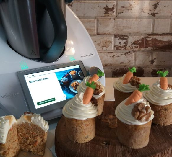 Mini carrot cake en Thermomix® Merida