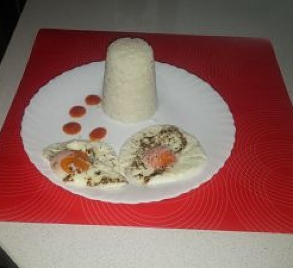 Arroz a la cubana con huevos al vapor con Thermomix® Badajoz