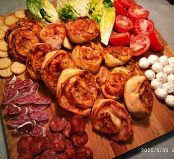 Caracolas de pizza y pollo a la barbacoa- Thermomix® Badajoz