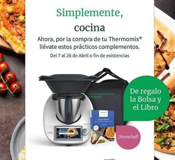 Nueva promocion: Thermomix® TM6 + BOLSA DE TRANSPORTE + Libro pizza party