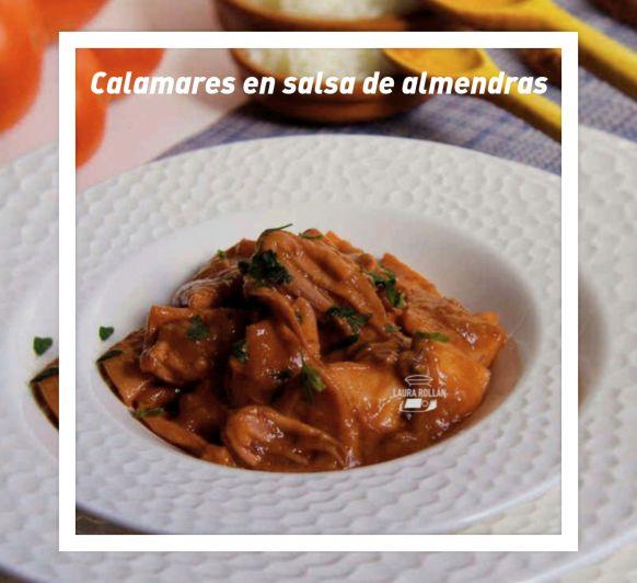 CALAMARES CON SALSA DE ALMENDRAS