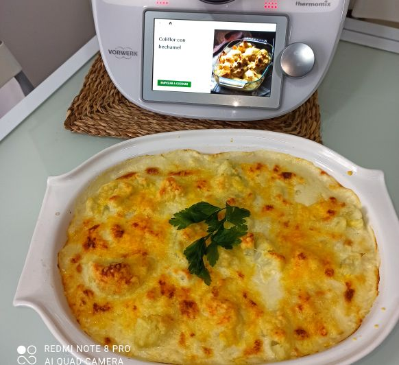 Coliflor con bechamel Thermomix® Zafra