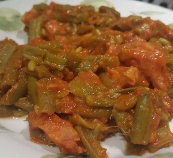 Thermomix® Badajoz: judías verdes con tomate y bacon