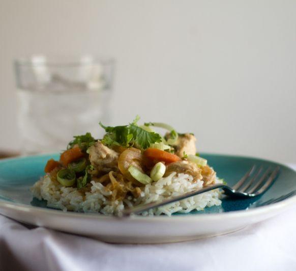 Pollo al gengibre con arroz basmati Thermomix® Zafra