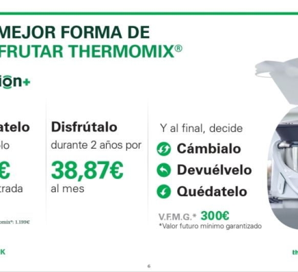 Thermomix® BADAJOZ (ZAFRA) MANTENEMOS LA PROMOCIÓN OPCIÓN+