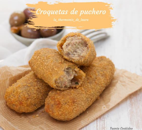 CROQUETAS DE PUCHERO CON Thermomix®