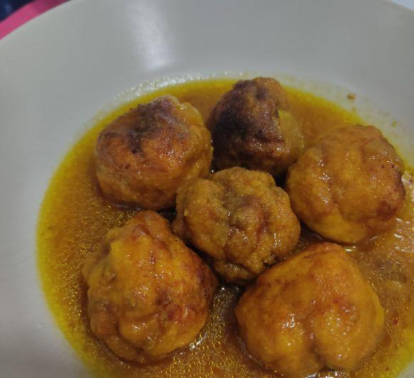 Albóndigas de merluza en salsa de vino blanco - Thermomix® - Don Benito - Badajoz