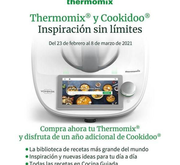 Opción Thermomix® + 1 año de Cookidoo® adicional