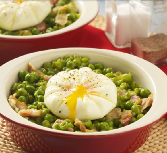 Huevos a la bilbaína con beicon en Thermomix® , Mérida ,Badajoz y Calamonte