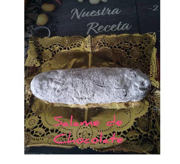 Salame de chocolate. Thermomix® . Badajoz.