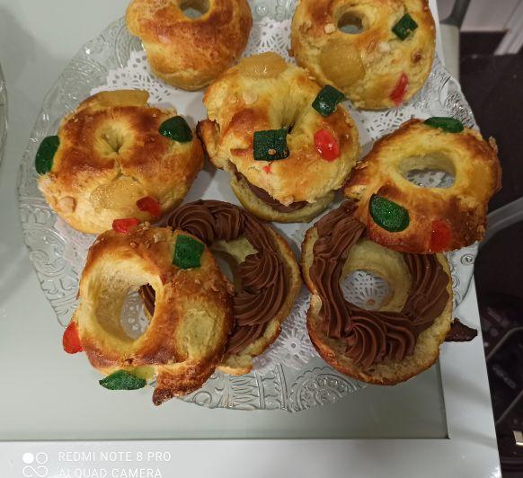 Mini roscón de Reyes